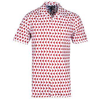 Tommy Hilfiger Bold Geo Print Regular Fit White Shirt