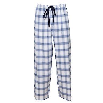Cyberjammies 6424 mannen ' s Harper blauw mix check katoen pyjama Pant