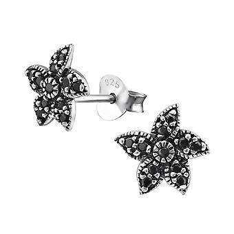Starfish - 925 Sterling Silver Cubic Zirconia Ear Studs - W30794X