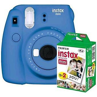 Fujifilm instax mini 9 kit 20 cobalt blue prints