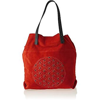 Chicca Bags 8627 Women's Shoulder bag Red (Red) 33x39x10 cm (W x H x L)