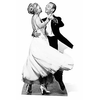 Fred Astaire og Ginger Rogers Lifesize papp åpning / Standee / Standup