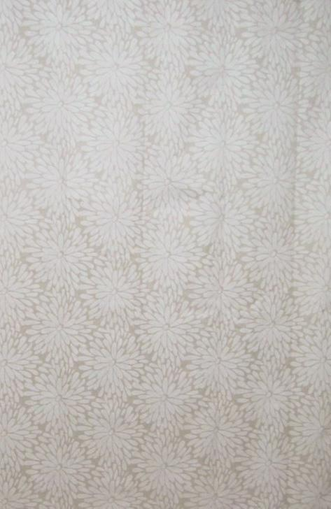 Petal Cream Design Polyester Shower Curtain 190 x 180cm