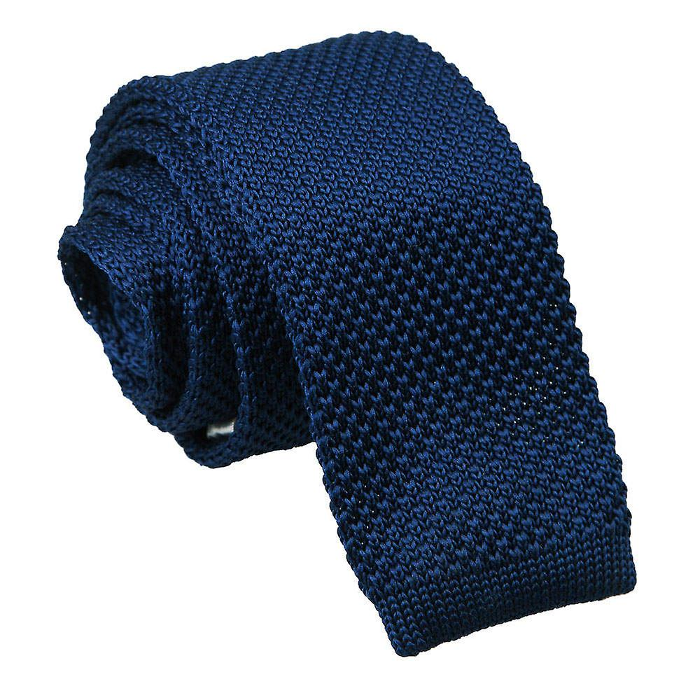 Knitted Navy Blue Tie
