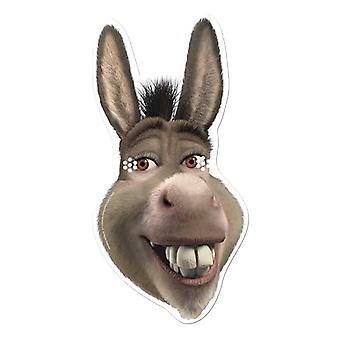 Donkey from Shrek Single Card Party Face Mask