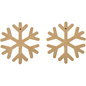 Beyond The Page MDF Snowflake Decorations 2/Pkg-4