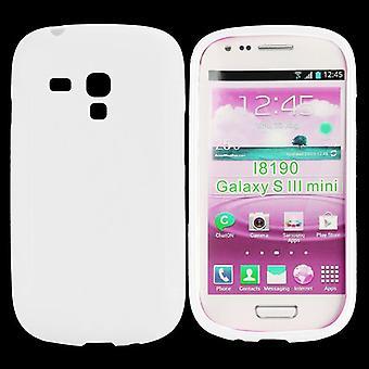 Icke-slip täcka, TPU, till Galaxy S3 mini (vit)