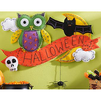 Halloween Wall Hanging Felt Applique Kit-19.5