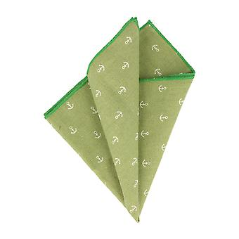 Snobbop handkerchief Hanky Cavalier cloth small anchor Green