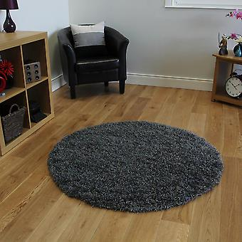 Kids Soft Fluffly Grey Shaggy Bedroom Rug Ontario