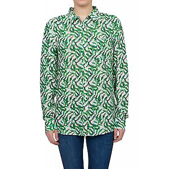 Lee One Pocket Hemd Damen Langarm-Hemd Grün Green Streak