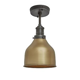 Brooklyn Vintage Small Metal Cone Flush Mount Light - Brass - 7