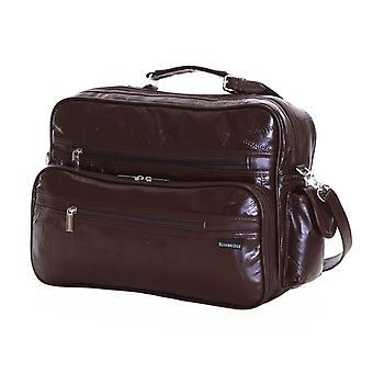 Slimbridge Kamen læder Rejsetaske, brun