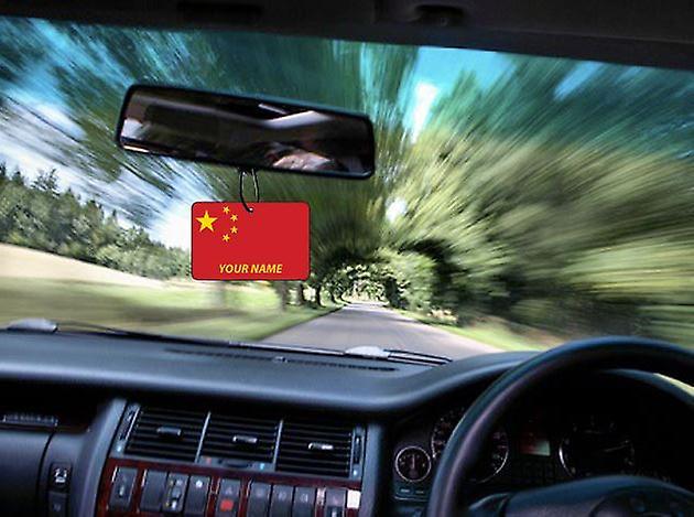 China Flag Personalised Car Air Freshener