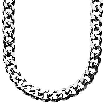 Iced out bling Ketting - MIAMI CUBAANSE 10 mm zwart