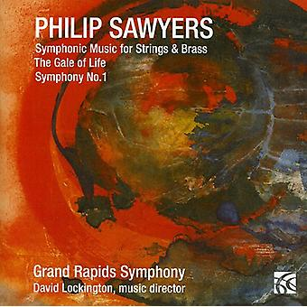 Grand Rapids symfoni/Lockin - Philip Sawyers: Symfonisk musik for strenge & messing [CD] USA import