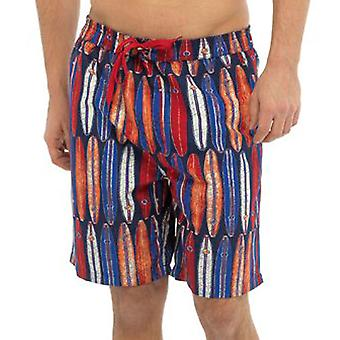 Mens Tom Franks Board Print Summer Beach Swim Pool Shorts With Mesh Liner