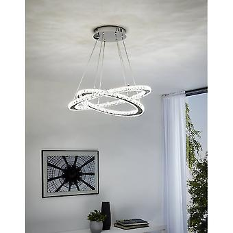 Eglo LED-HL 2xring, Chrome/crystal 'VARRAZO'