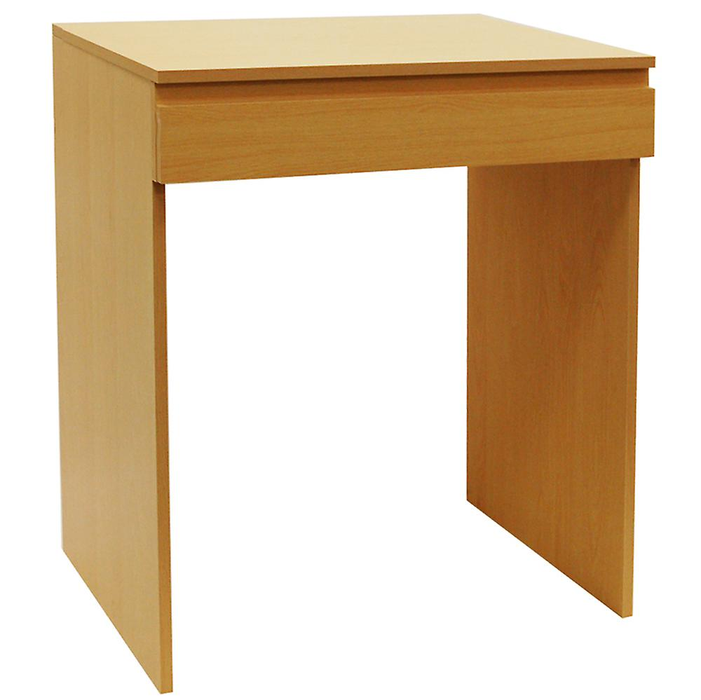Tisch - Flip Top Office Desk / Workstation / Dressing Table - Beech