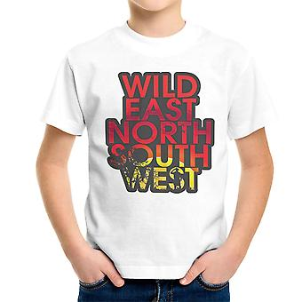 Wild East North South West Kid's T-Shirt