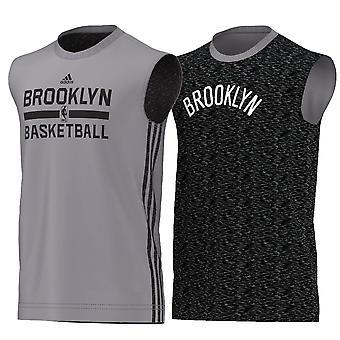 ADIDAS NBA Brooklyn garn Basketball reversibel tank [grå]