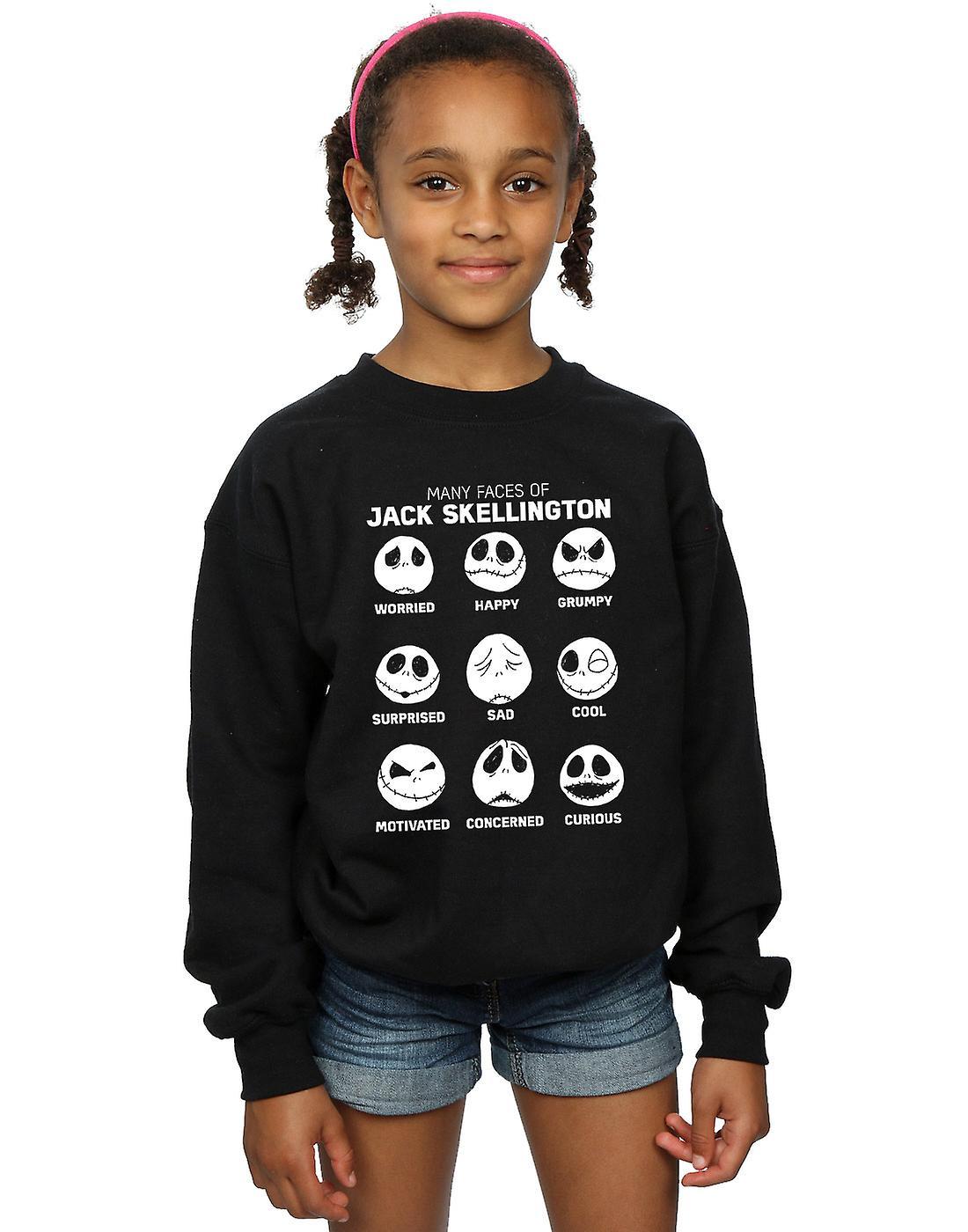 Disney filles Nightmare Before Christmas les nombreux visages du Jack Sweatshirt