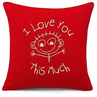 Superstudio Cushion Cover I Love You This Much 45X45 (Maison , Textile , Coussins)