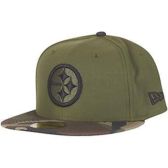 New Era 59Fifty Cap - Pittsburgh Steelers wood camo