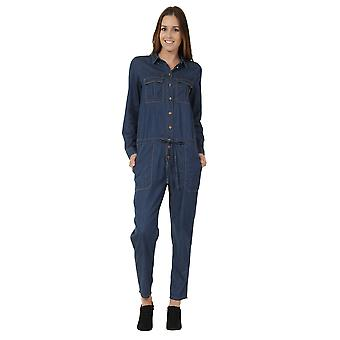 Vrouwen Denim Boilersuit lichtgewicht blauw denim all-in-one
