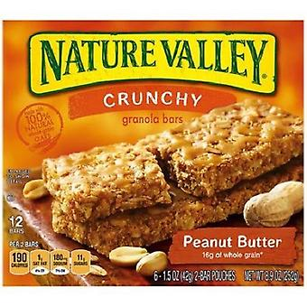 Nature Valley sprøde jordnøddesmør Granola barer 2 Box Pack
