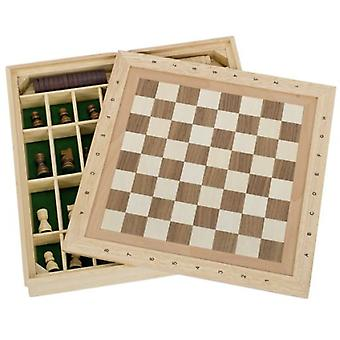Goki Chess, draughts and nine men's morris game set (Toys , Boardgames , Traditionals)