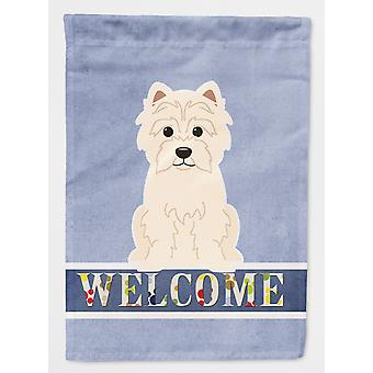 Carolines Treasures  BB5623CHF Westie Welcome Flag Canvas House Size