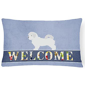 Maltese Welcome Canvas Fabric Decorative Pillow