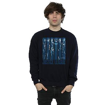 DC Comics Men's Justice League Movie Double Indigo Sweatshirt