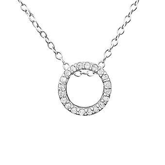 Cirkel - 925 Sterling sølv Jewelled halskæder - W20110X
