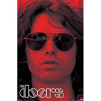Jim Morrison Doors Red Poster Poster Print