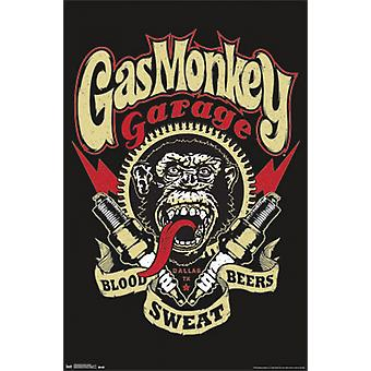 Gas-Monkey Garage - Graphic Poster Plakat-Druck