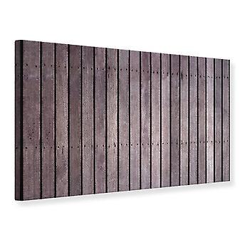 Canvas Print houten muur
