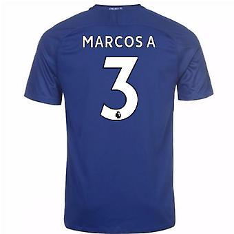 2017-18 Chelsea hem skjorta (Marcos A 3)