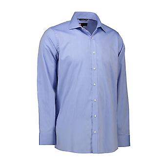 ID Mens Long Sleeve Modern Fit Easy Iron Shirt