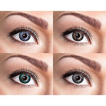 Natural contact lens with top look