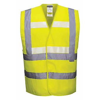 Portwest - tecnología Triple Hi Vis brillan en la oscuridad ropa de trabajo chaleco