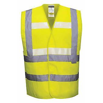 Portwest - Triple Technology Hi Vis Safety Workwear Glow-In-Dark Vest