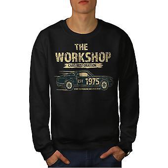 Американский автомобиль мышцы мужчин BlackSweatshirt   Wellcoda
