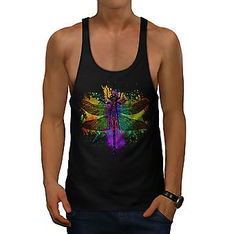 Colorful Insect Animal Men BlackGym Tank Top | Wellcoda