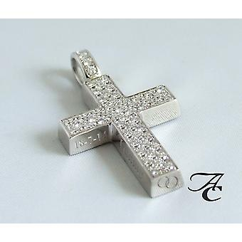 White Gold cross with diamonds
