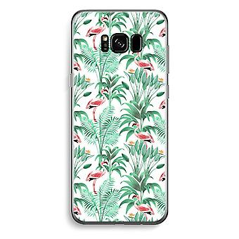 Samsung Galaxy S8 Transparent Case - Flamingo leaves