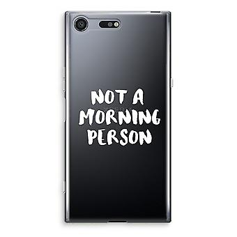 Sony Xperia XZ Premium Transparent Case - Morning person