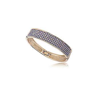 Sierlijke kristalviolet van Swarovski Bangle en gele goud plaat armband