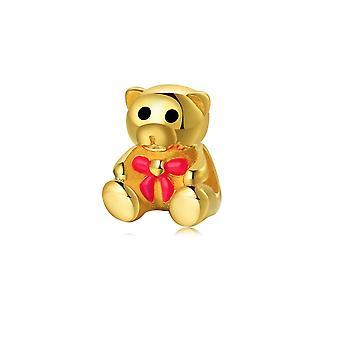 Grano pequeño oso oro encanto